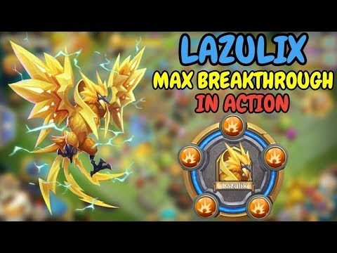 Lazulix L Max Breakthrough In Action L Castle Clash
