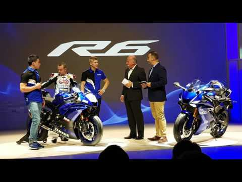 New Yamaha YZF R6 premiere in Milan - World Supersport race bike & street bike, first look in 4K