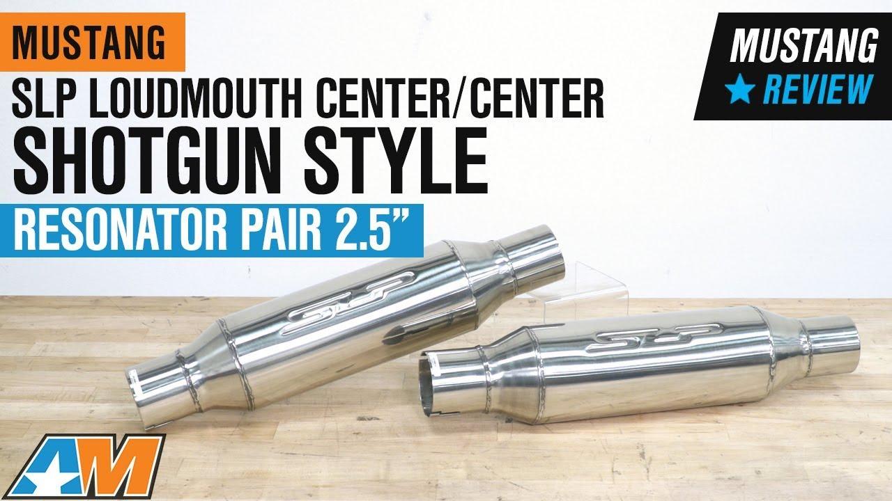 1979 2004 mustang slp loudmouth center center shotgun style resonator pair 2 5 review