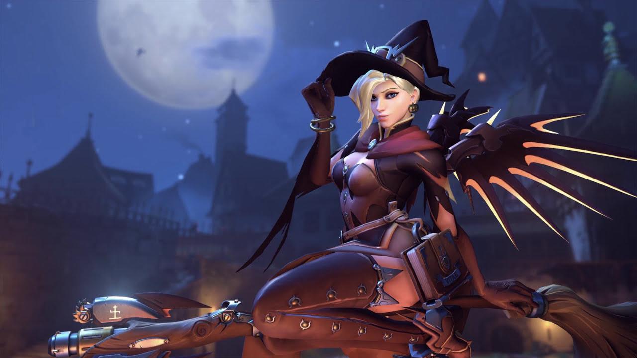 Overwatch Witch Mercy Desktop Wallpaper