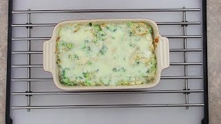 Broccoli Chicken Quinoa Casserole With A Cauliflower Sauce