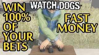 Watch Dogs - FAST Money for Beginners - Win the Shell Game EVERY Time (Watch Dogs Gameplay)