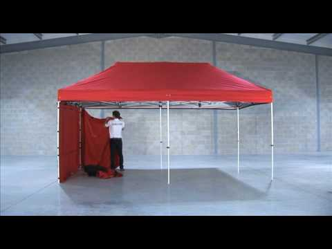 Surf Turf Instant Shelters 6m X 3m Heavy Duty Steel Being Erected