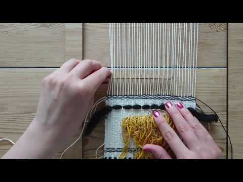 Making a Woven Wall Hanging - Step 7: Roving - Weaving for Beginners