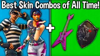 10 BEST SKIN COMBOS OF ALL TIME in FORTNITE! (Best Skin + Backbling Combinations)