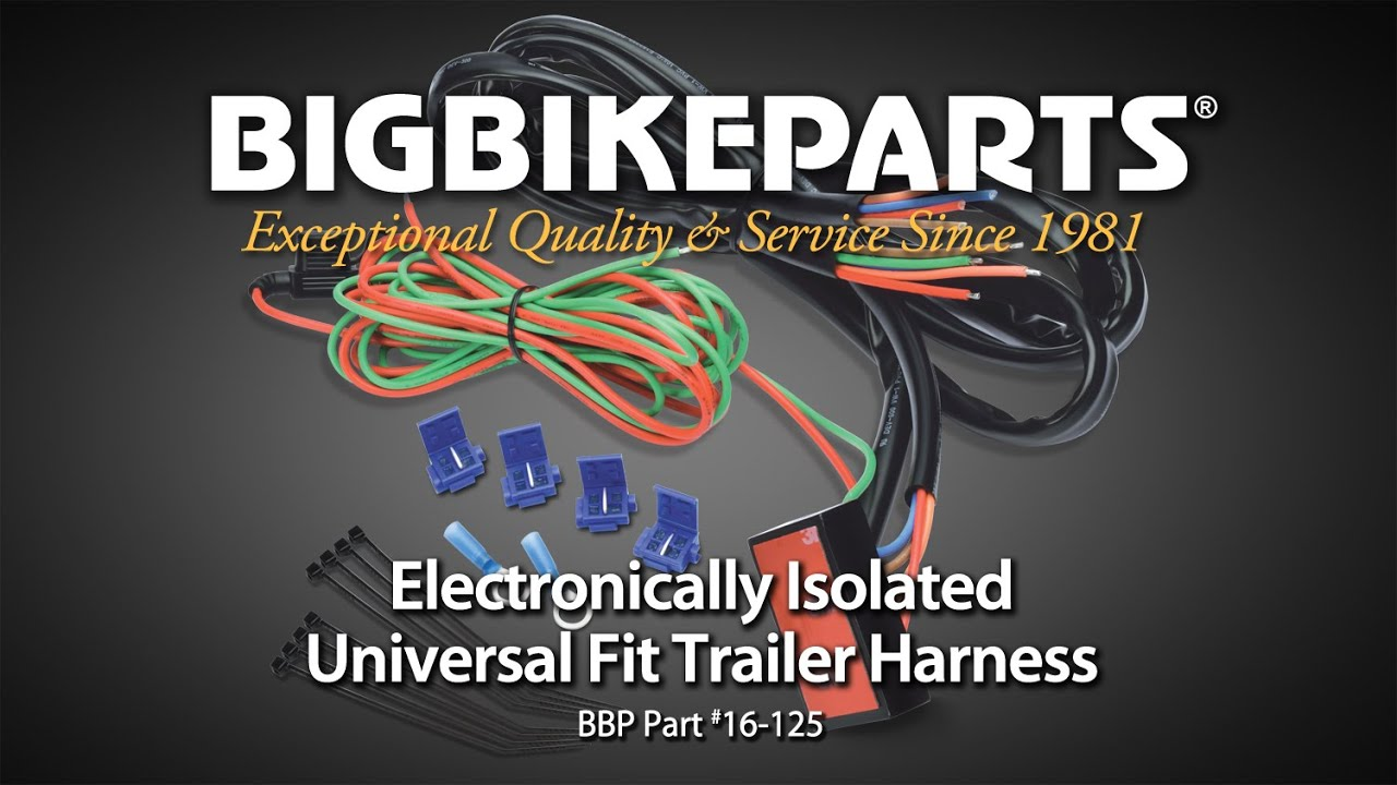 maxresdefault isolated universal fit motorcycle trailer harness youtube Universal Wiring Harness Diagram at mr168.co