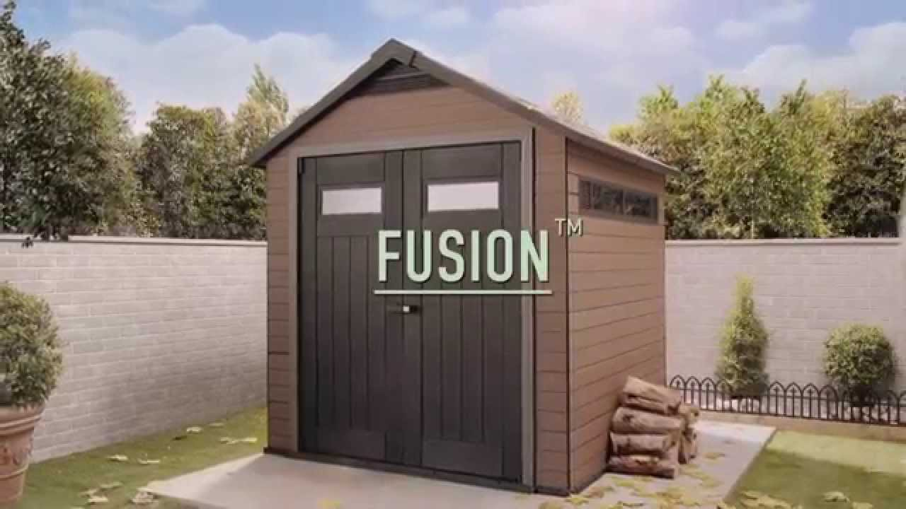 Fusion Wood Amp Plastic Sheds Keter Youtube