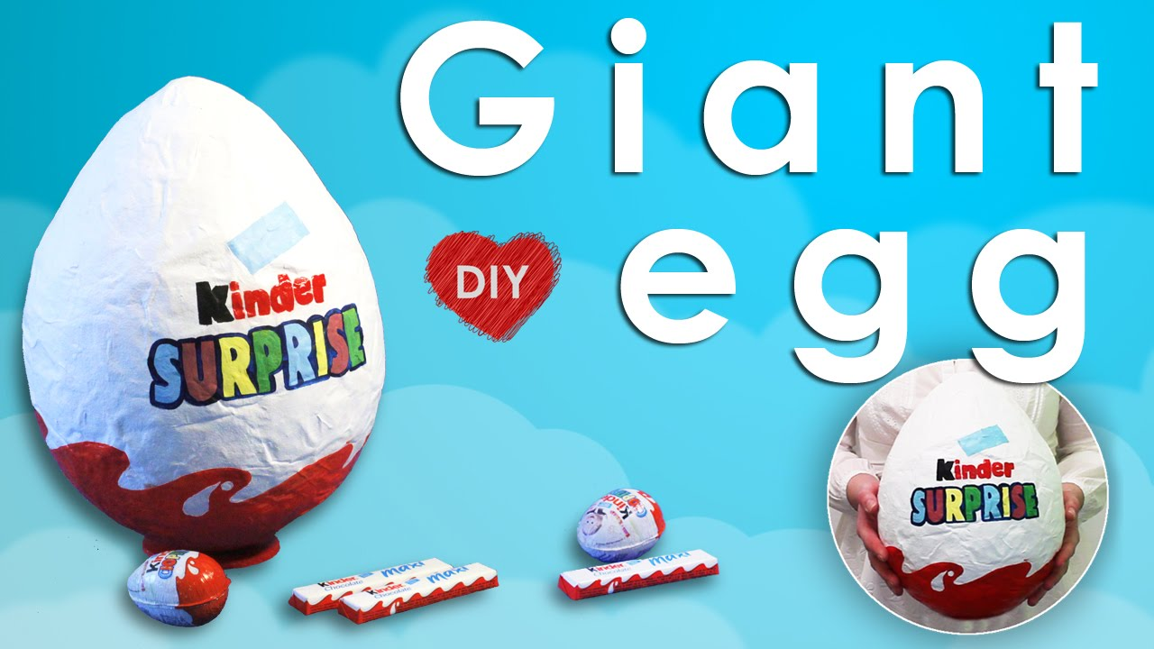 Super DIY - Giant Kinder Surprise Egg. Papier mache egg - easy DIY - YouTube IB97
