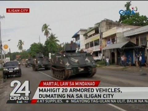 24 Oras: Mahigit 20 armored vehicles, dumating na sa Iligan City