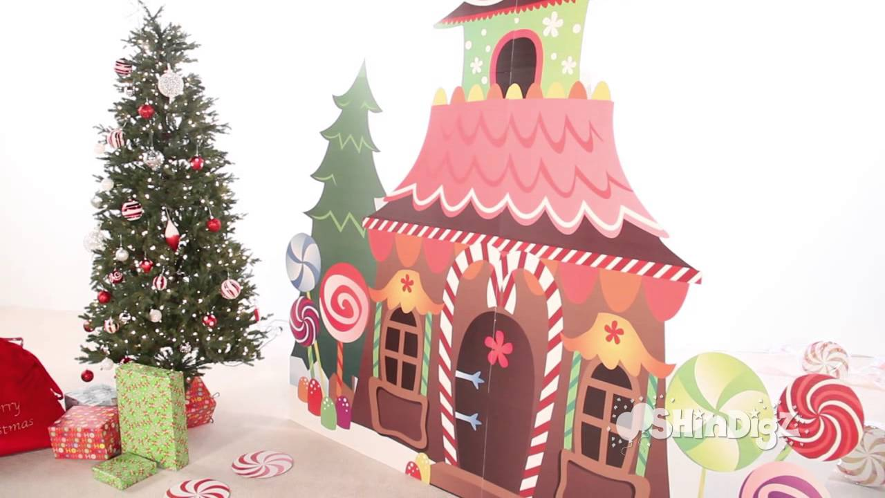 gingerbread house standee party supplies shindigz christmas decorations youtube - Gingerbread House Christmas Decorations