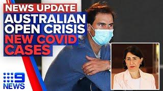 Tennis stars slam quarantine conditions, NSW records 6 new Coronavirus cases | 9 News Australia
