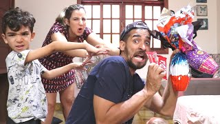 CAÇA AOS OVOS DE PÁSCOA - Família Rocha - Vlog