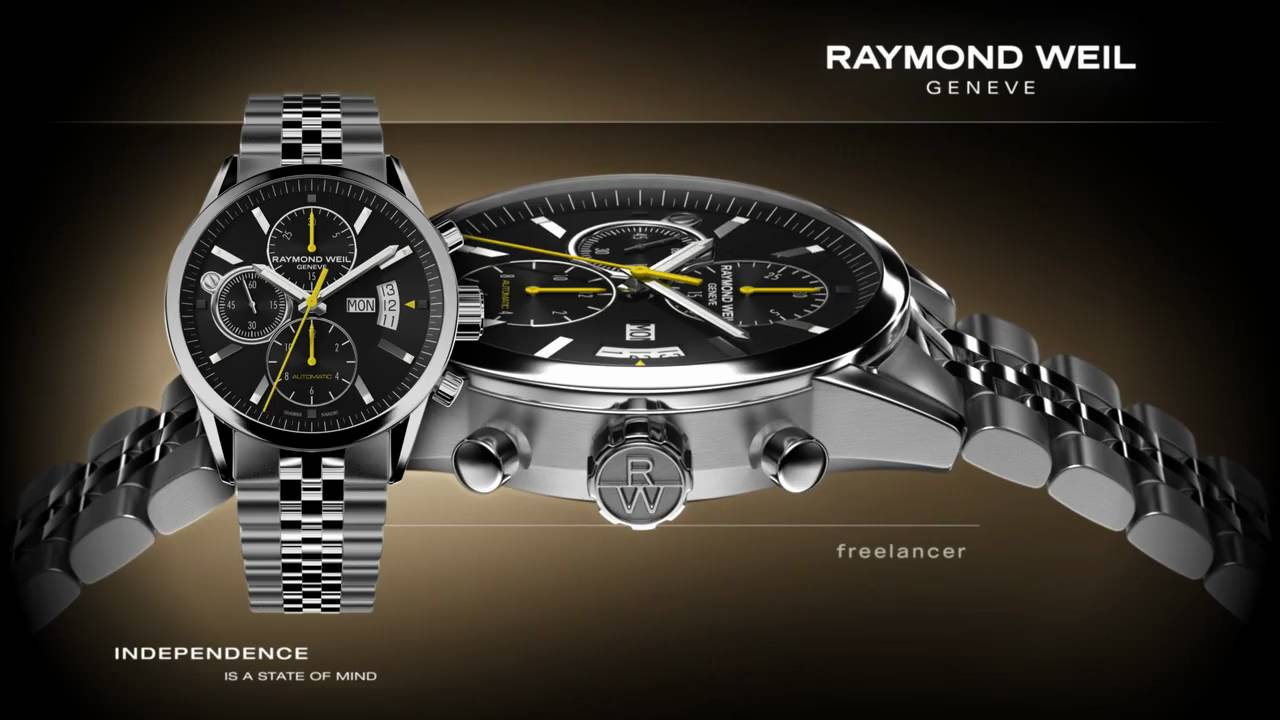automatic chronograph freelancer watch raymond weil geneva