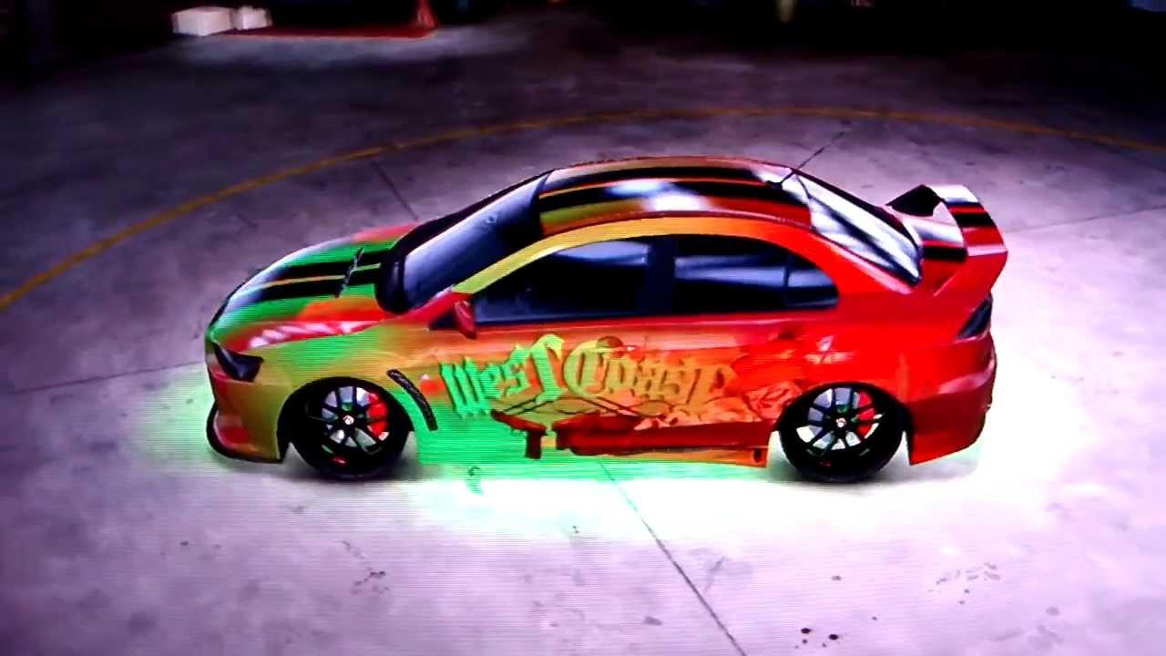 Midnight Club Los Angeles   West Coast Mitsubishi Lancer Evolution X Tuning  HD   YouTube