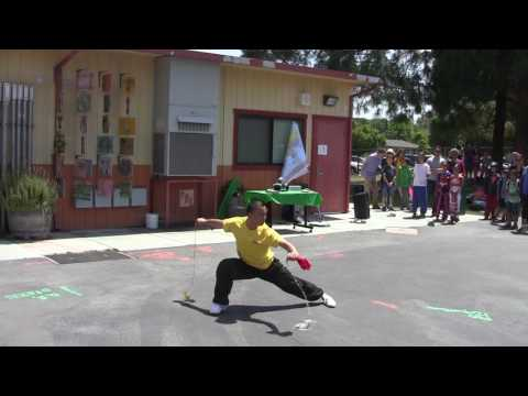 2016 May, JY International School KungFu Performance at Stevenson Elementary 2016 Int. Day