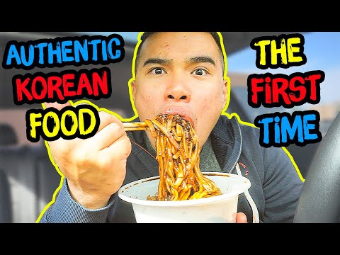 First Time Trying AUTHENTIC KOREAN FOOD | Mukbang | QT