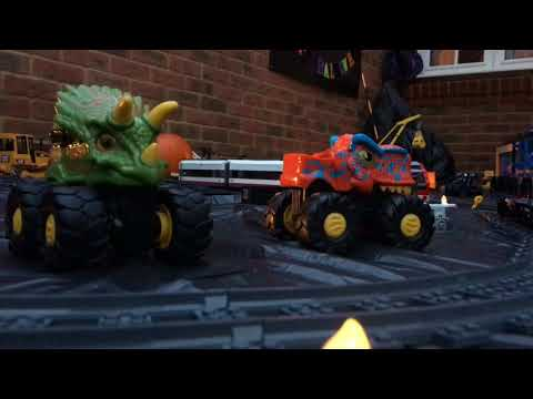 Spooky Halloween Pumpkin Lego Freight Train Epic Movie Trailer