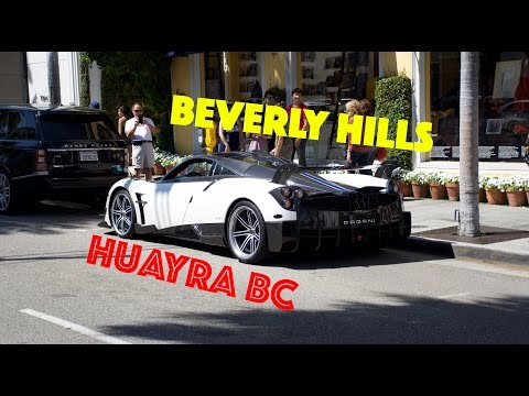 Hypercars of Beverly Hills | Huayra BC and Lady-Driven Bugatti