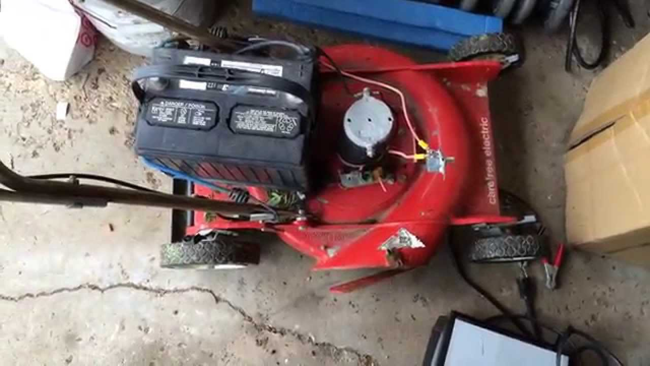 how to repair electric lawn mower