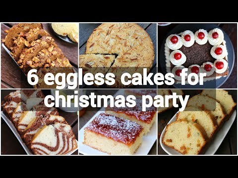 6 Eggless Cakes For Christmas Party | Easy Christmas Cake Recipes | Christmas Cake Ideas