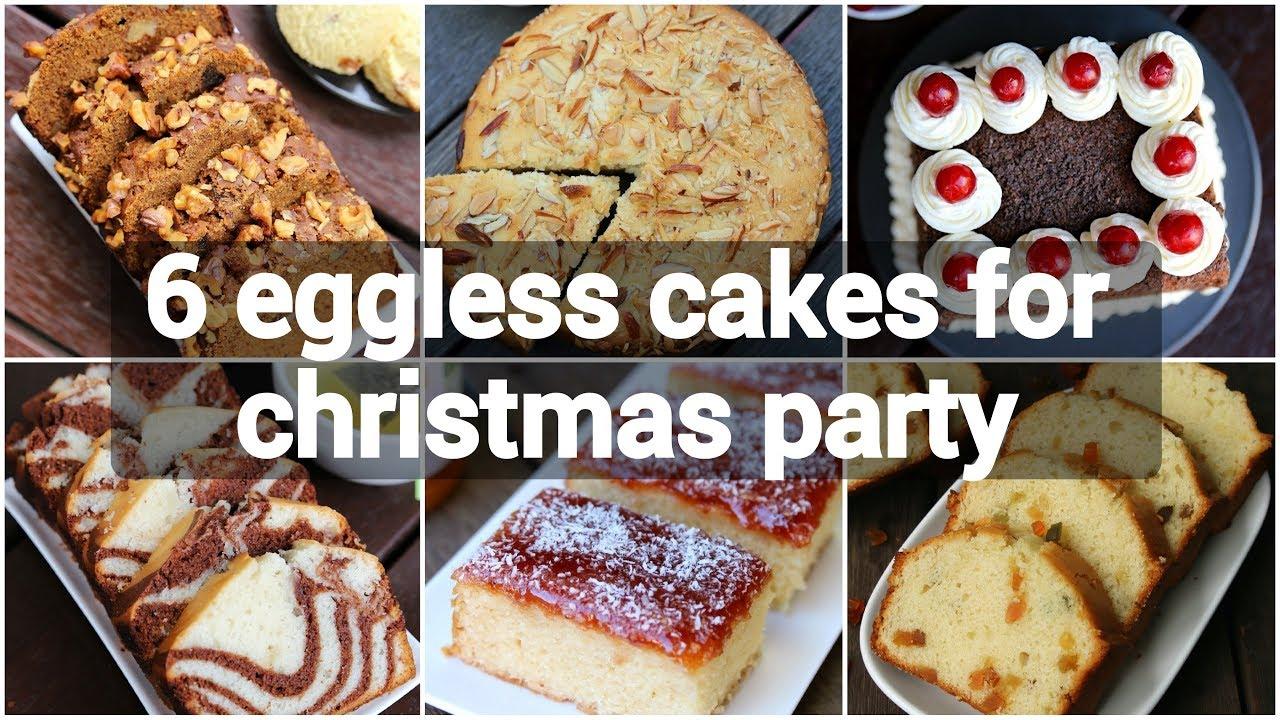 6 Eggless Cakes For Christmas Party Easy Christmas Cake Recipes Christmas Cake Ideas Youtube