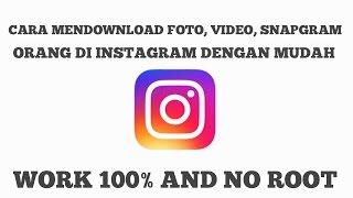 Gambar cover Instagram MOD!!! Ada tombol DOWNLOAD (NO ROOT) - TUTORIAL #1