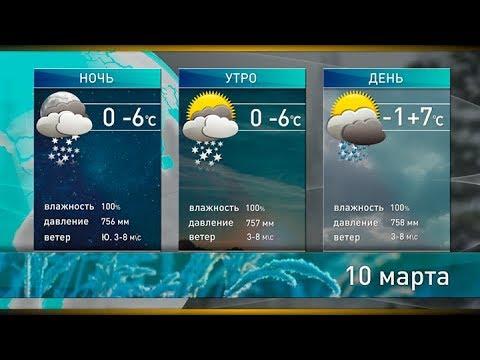 Прогноз погоды на 10 марта