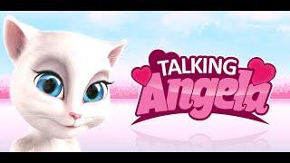 Говорящая Анжела - Кормим Анжелу. Купаем кошку - Talking Angela - Android GamePlay