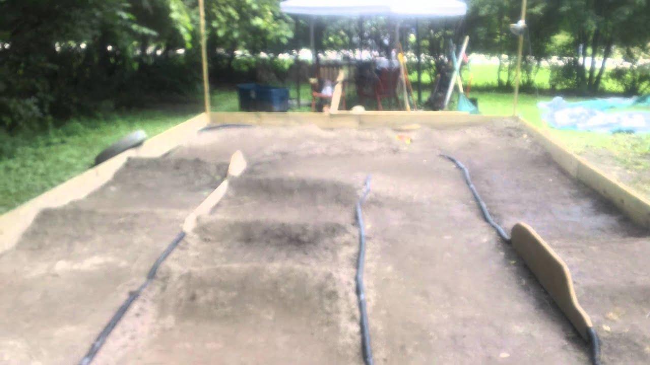 1/16 - 1/18th scale Backyard RC track - YouTube