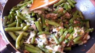 Стручковая фасоль c яйцом/green beans with egg