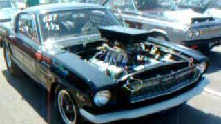 1965 A/FX Mustang at Beaver Springs Dragway.