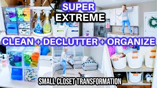 CLEAN DECLUTTER ORGANIZE WITH ME 2021 | SPEED CLEANING MOTIVATION | CLOSET DECLUTTER TRANSFORMATION