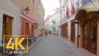 Vilnius, Lithuania - Walking Tour with City Sounds (4K 60fps) - Part #1
