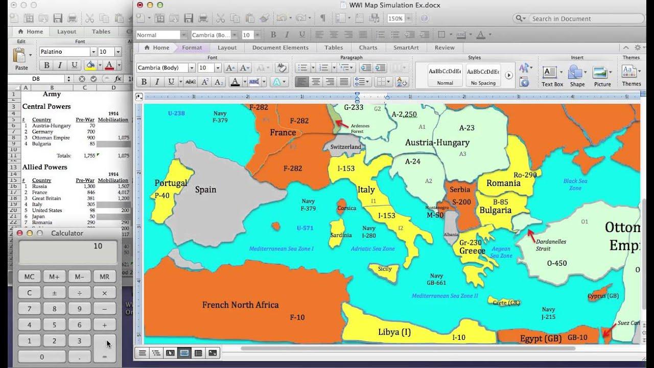 World war 1 simulation lesson plan mobilization of armies youtube publicscrutiny Choice Image