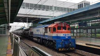 7456호 기관차 견인 시멘트 화물열차 성균관대역 통과