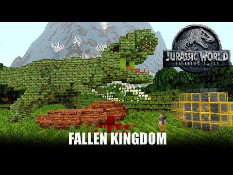 Minecraft Trailer Jurassic World 2 Fallen Kingdom HD - Reacción