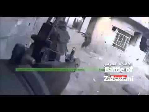 Syria Army and Hezbollah Battle Al Qaeda for Zabadani - Go Pro Captures Fight