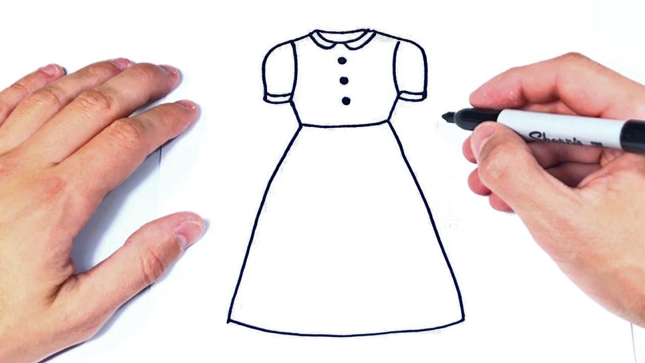 Cómo Dibujar Un Vestido Paso A Paso Dibujo De Vestido De Mujer