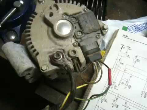 hqdefault ford alternator wiring questions youtube ford alternator wiring diagram internal regulator at bayanpartner.co