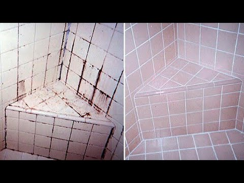 how to clean bathroom tiles at home