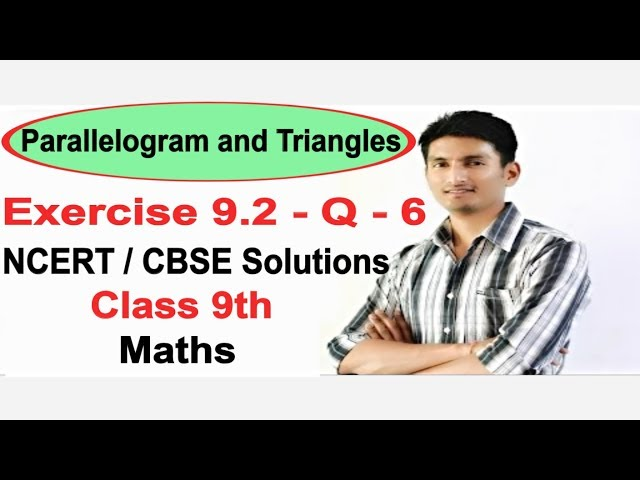 Chapter 9 Exercise 9.2 Q 6 - Areas of parallelograms and Triangle class 9 maths - NCERT Solutions