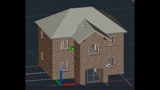 [AutoCAD Architectura. Метод проектов] Второй этаж и крыша, виды