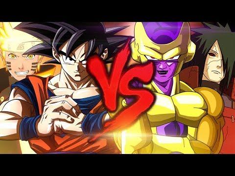 Goku e Naruto VS. Madara e Freeza | Combate de Rimas | Part. Lunar, Lukas Rapper e Thor