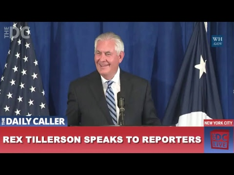 Rex Tillerson Press Briefing in New York City