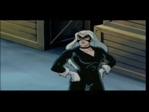 Marvel Comics Animated Series Black Cat And Spiderman