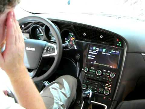 New SAAB 9-5 interior - YouTube