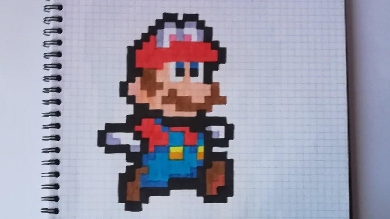 Pixel Art Mario Odyssey 8bit