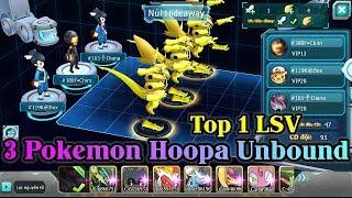 Dùng 3 Pokemon HOOPA UNBOUND Vượt Ải Tổ Đội Liên Server Siêu Tốc - New Pokemon Game Theory 2018