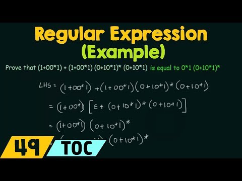 An Example Proof using Identities of Regular Expressions