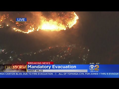 Mandatory Evacuation Issued In West Hills Due To Woolsey Fire